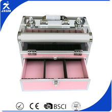 2017new design makeup case alinium casvanity box Large acrylic Aluminium Beauty case Cosmetic Box Nail Make Up Vanity Salon Case