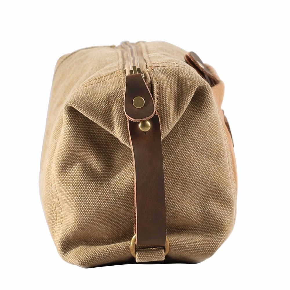 Durable functional unisex custom canvas travel cosmetic bag wholesale
