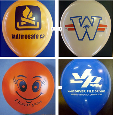 Low MOQ OEM 12 inch promotion custom logo printed advertising inflatable helium balloons