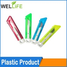 plastic handle safety box open cutting knife office cutter
