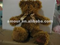 2012 top sales so cute plush stuffed teddy bear brown fur bear toy warm winter toy Christmas Valentine gift kids on discount
