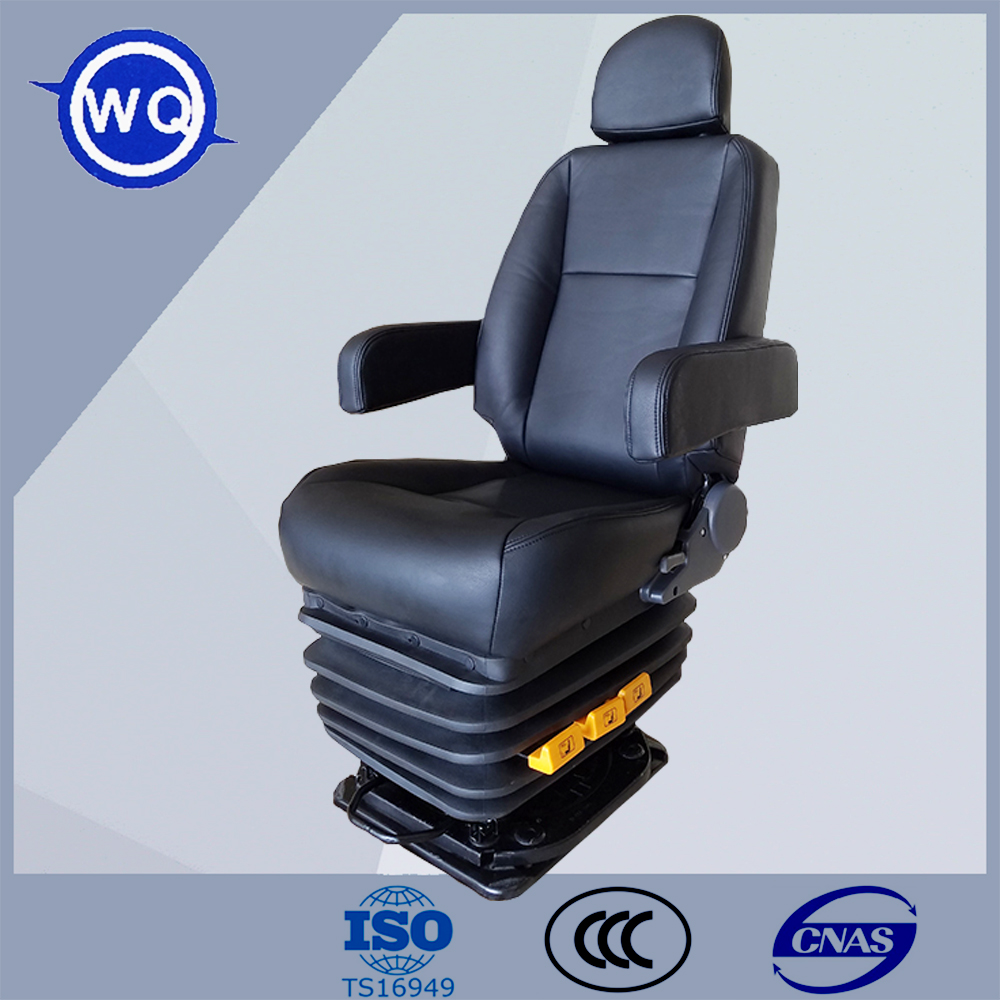 Air suspension driver seat for coach bus