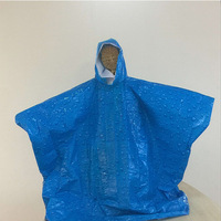 Esschert Design Disposable Children or women used Pvc Rain Poncho/Raincoat or Rain Coat