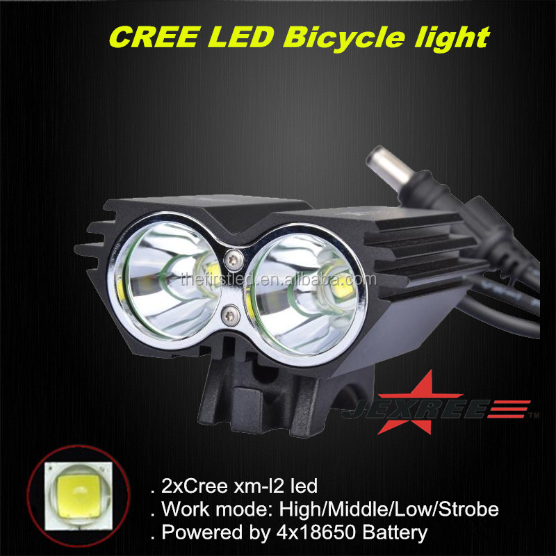 Cree XM-L2 1800LM waterproof <strong>design</strong> Led bright cree bike light