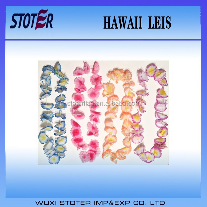 polyester hawaii flower lei