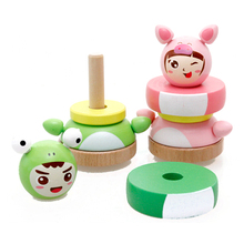 FQ brand wholesales factory new kids interesting educational game tumbler toys early wood education toy