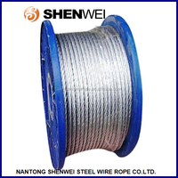 China Nantong Shenwei 6x37+FC 11mm electrical galvanized steel wire rope