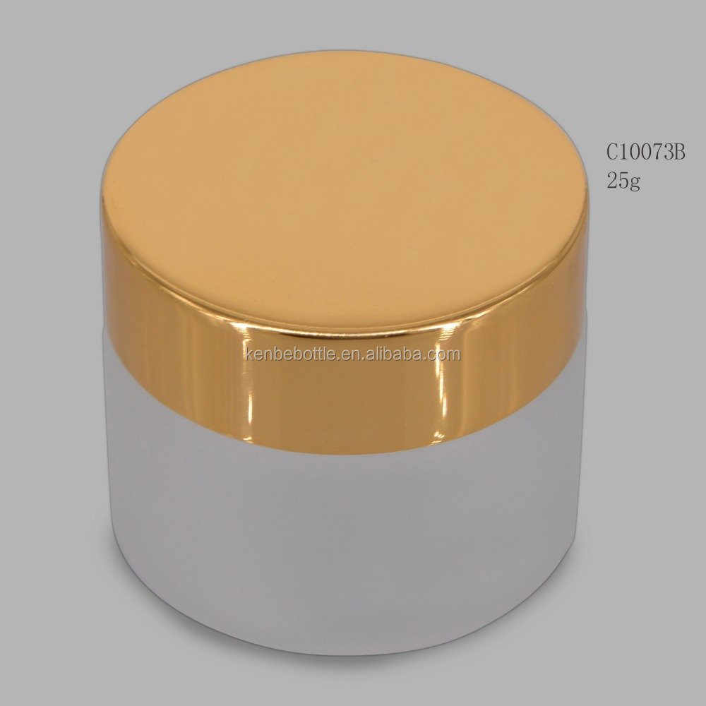 kenbe bulk wholesale make up jar 25g custom matted cosmetics glass jar with lids from china manufacturer
