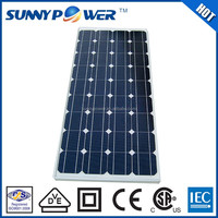 Deep green 100 watt semi flexible solar panel With (CEC)& CE certificate