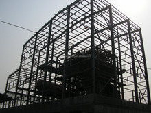 Prefab steel structure warehouse factory rent in china