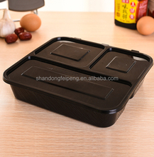 Hinged / Clamshell lid container, pp disposable food container , Clear takeaway box