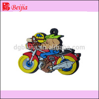 Custom 2D 3D logo cheaper motorcycle shaped rubber soft pvc keyring/key chains