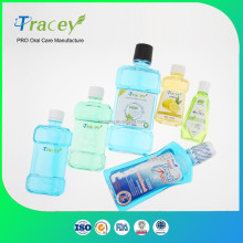 OEM Wholesale price bulk Fresh mint flavor antiseptic private label mouthwash LIQUID