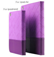 New Contrast Color For Apple iPad 5 Lozenge Leather Holster Cover Folio Case