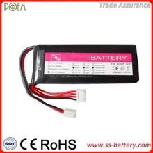 High discharge rate 20C 1500mah lithium ion 9.6v li-ion battery pack for soft gun