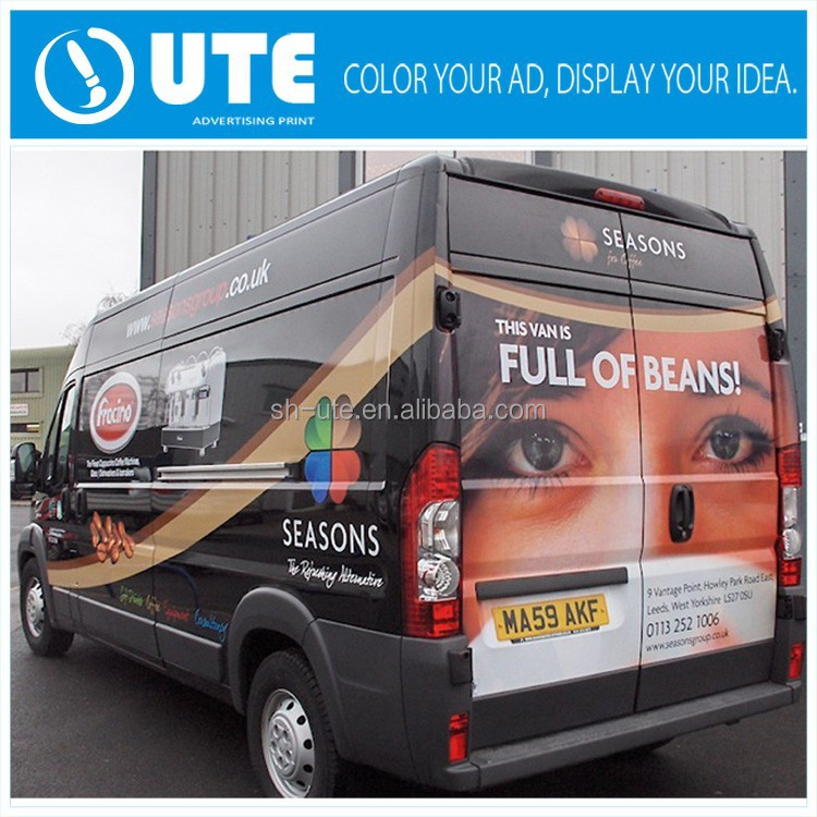 Vehicle graphics advertising magnetic sticker signs printing