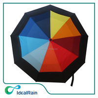 21inch colorful air vented travel compact umbrella