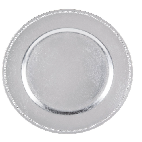 wholesale plastic wedding charger plates with gold silver rose color