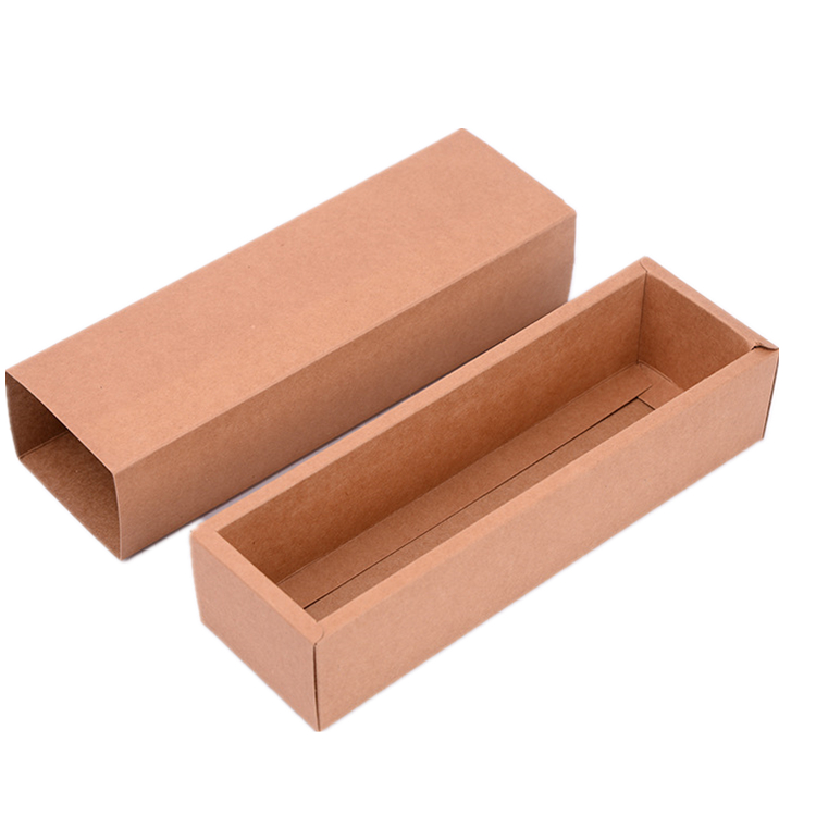 Recycled small brown Kraft paper drawer box with offset printing logo