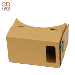 "Novelty 2016 Clear Google Cardboard 3D VR Virtual Reality 3D Glasses For 4.7-5"" Smartphone"