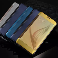 Luxury Case for Samsung Galaxy S6 edge plus,Cell Phone Window View Flip Cover