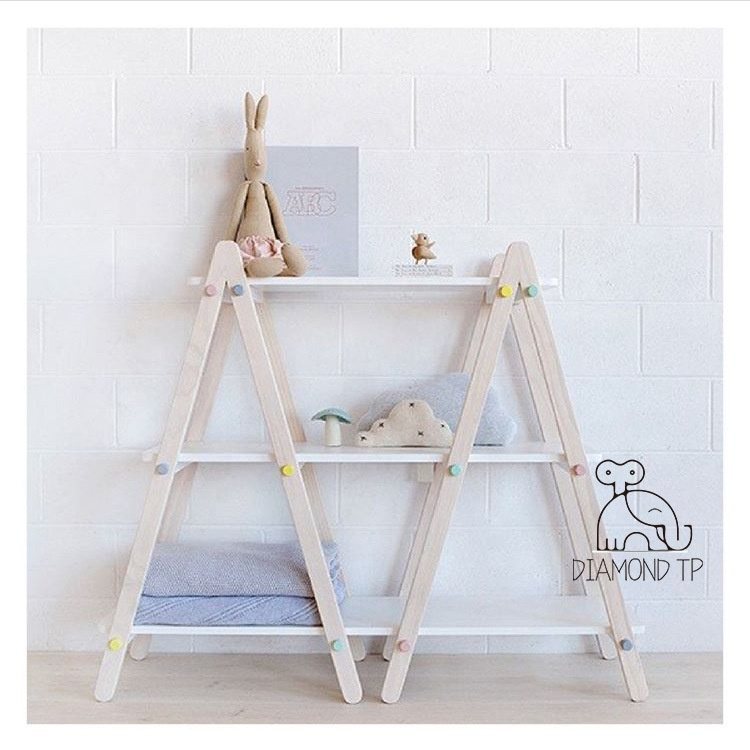High quality 3 tier baby toy storage rack for home decoration