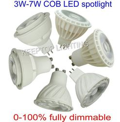 OEM Manufacturer led spotlight IC driver inside AC100-240V COB 3w 5w 7w GU10 GU5.3 MR16 led spot light Plastic+Aluminum housing
