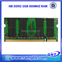 Best price ETT chips non ecc ddr2 2gb notebook memory ram