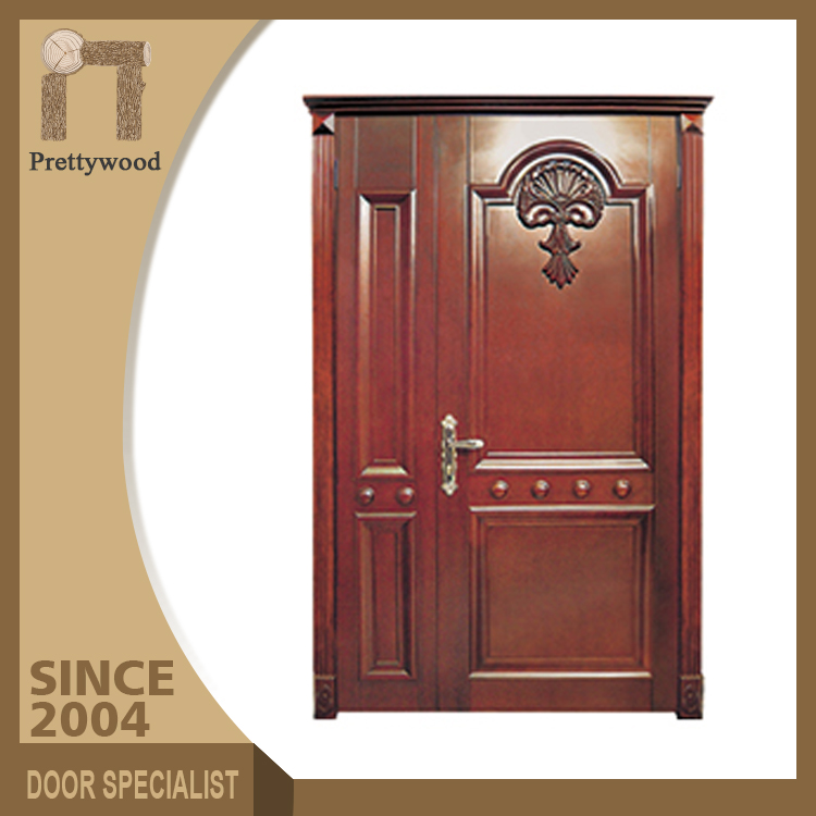 Indian Style Single Leaf Interior Swing Solid Wood Oak Door For Room