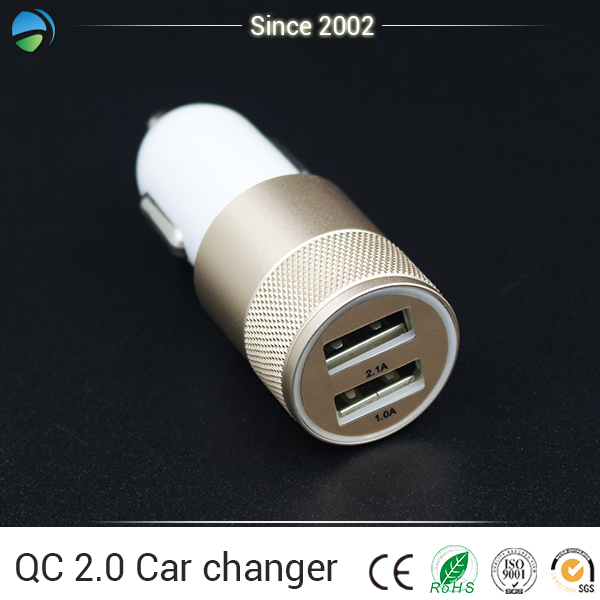 New product micro balance charger Dual usb Full-speed car charger with a qualcomm