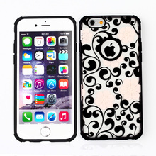 Promotion 2016 New Arrival Hot Selling For Apple iPhone 4 4S 5 5S Flower TPU pattern Hard Side Case Cover