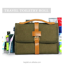 CT885 Wholesale Canvas Cosmetic Bag Makeup Travel bag Kit
