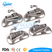Dental Orthodontic Oral Metal Button .022 .018 Non Convertible 6 Molar 2nd Brackets Tube Roth Edgewise Single Double Buccal Tube