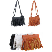 New Fashion Tassel Mini Women Bags Ladies Small Casual PU Leather Fringe Satchel Crossbody Messenger Shoulder Bag Bolsa Feminina