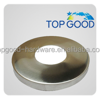 Made in china outdoor balcony use stainless steel base plate cover railings handrail floor flange for different size railings