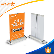 Free Samples A3 A4 Size Mini Desktop Aluminum Single Side RollUp Banner Stand,Exhibition Display Tabletop Roller Banner