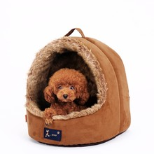 R0973H High quality luxury cute felt pet products plush dog house