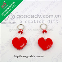 Guangzhou Factory made Sweet gift heart shape EVA keychain