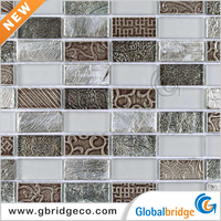 China Crystal Glass Stone Mosaic Wall Tiles Pattern Crystal Decoration Pieces M8CFPh52