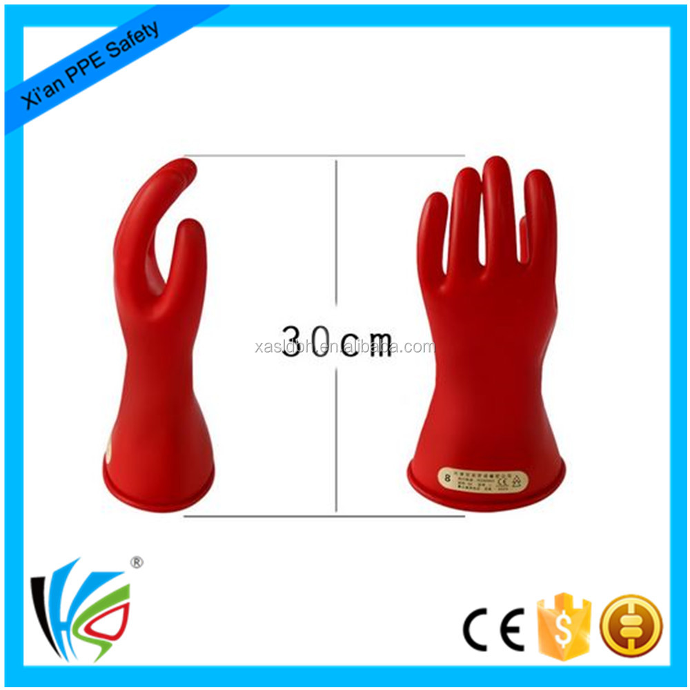 5KV Red Electrical Protection Gloves