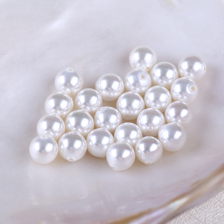 8mm Customize White Color Shell Pearl Bead with Half Drill