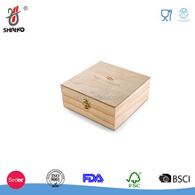 China factory FSC hold small wooden Doterra Essential Oil Box - Best For Tall Roller Bottles. Natural Pine, Wooden
