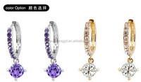 Shiny circular crystal earringsl earring !! jewelry Decorations earring!! wholesale
