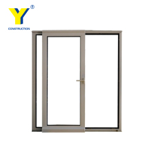 ALUMINUM DOOR MADE IN CHINA LX03 STANDARD ALUMINUM SLIDING DOOR LUXURIOUS LOOK 3 LOW TRACK DOUBLE GLAZING DOUBLE TEMPERED GLASS