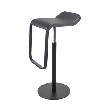Fully black LEM Piston chair stool counter bar stool stainless steel bar high chair