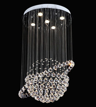 Indoor contemporary hanging lamp LED crystal chain chandelier ceiling light modern