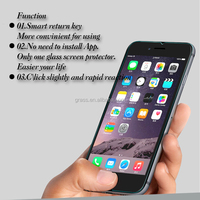 wholesales anti fingerprint 0.2mm 9H tempered glass screen protector