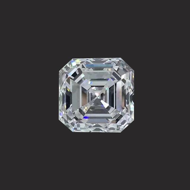 Square shape VVS2 Clarity Grade 1 carat pure white H color Princess cut natural GIA diamond