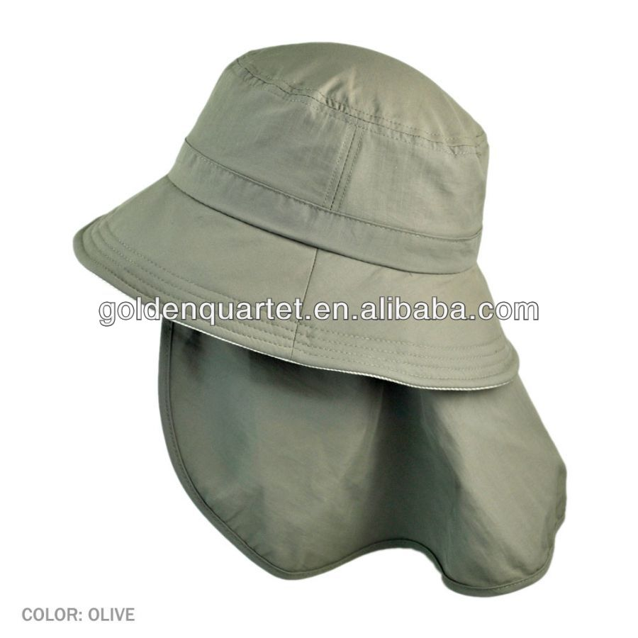 UV Protection Bucket Hat with Detachable Fla(SA8000, BSCI, ICTI factory)