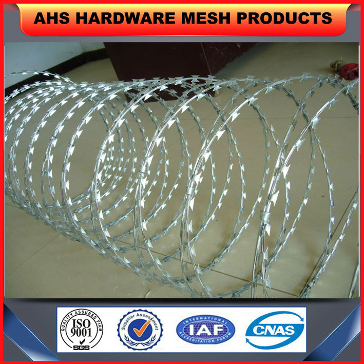 2014 concertina razor wire prison fence/Razor Blade Wires for security (Professional factory)